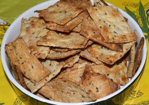 Galletitas saladas con harina de maíz para copetín