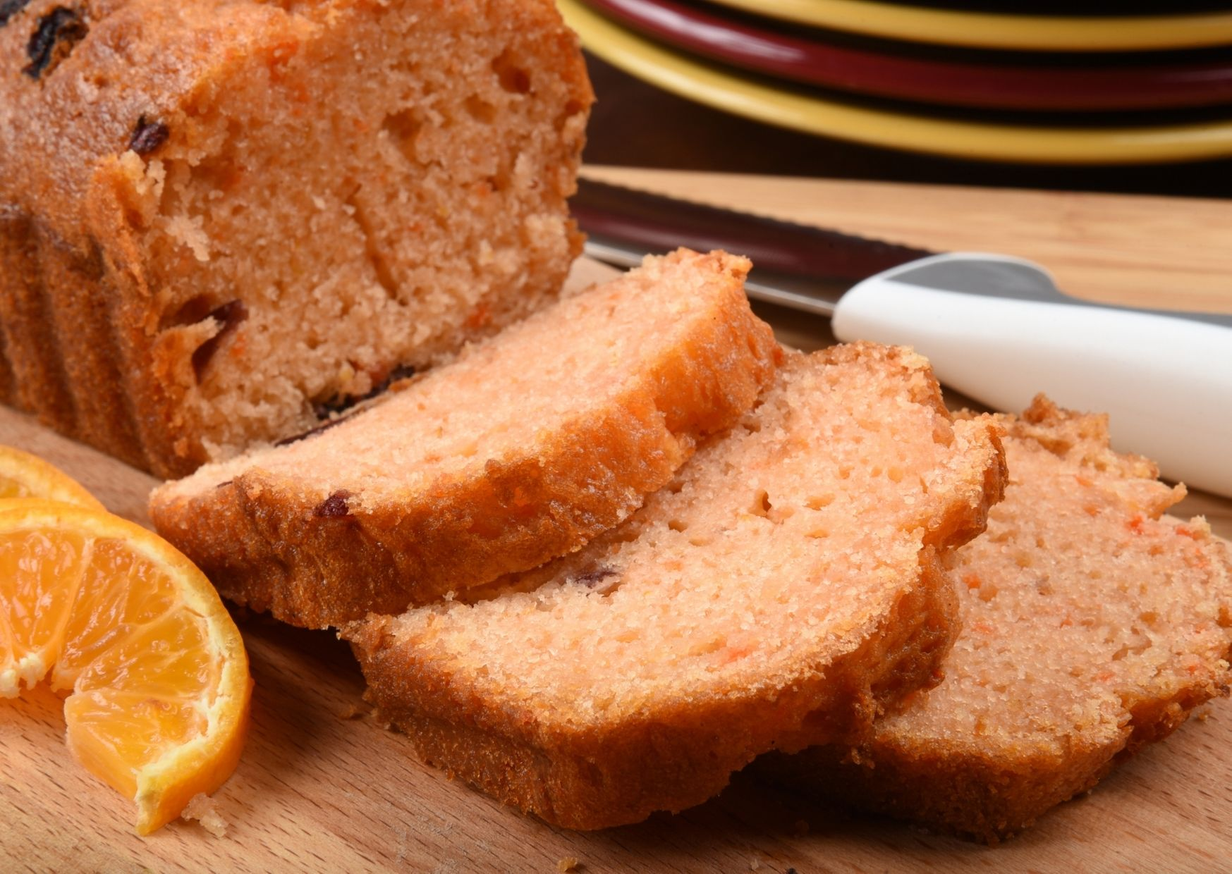 Pan casero de azafrán y naranja