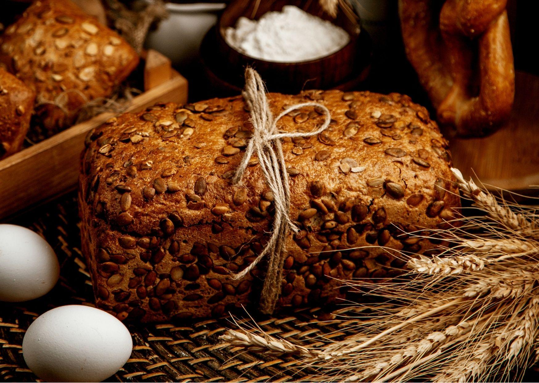Panes integrales con semillas de calabaza