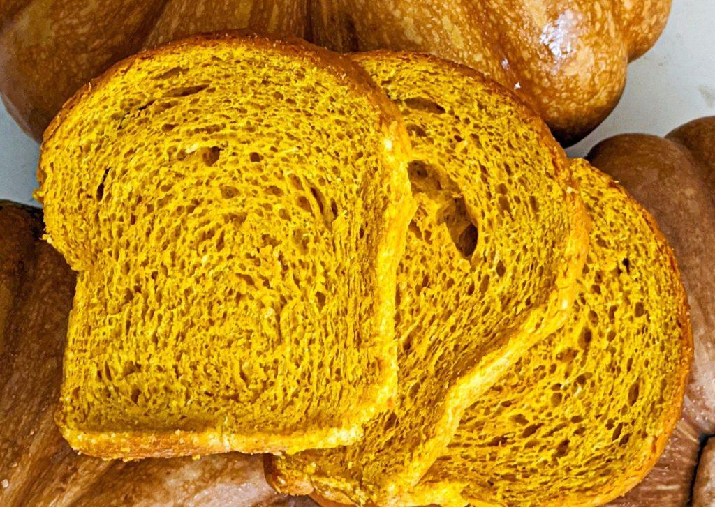 Pan de puré de zapallo criollo, (calabaza, auyama)