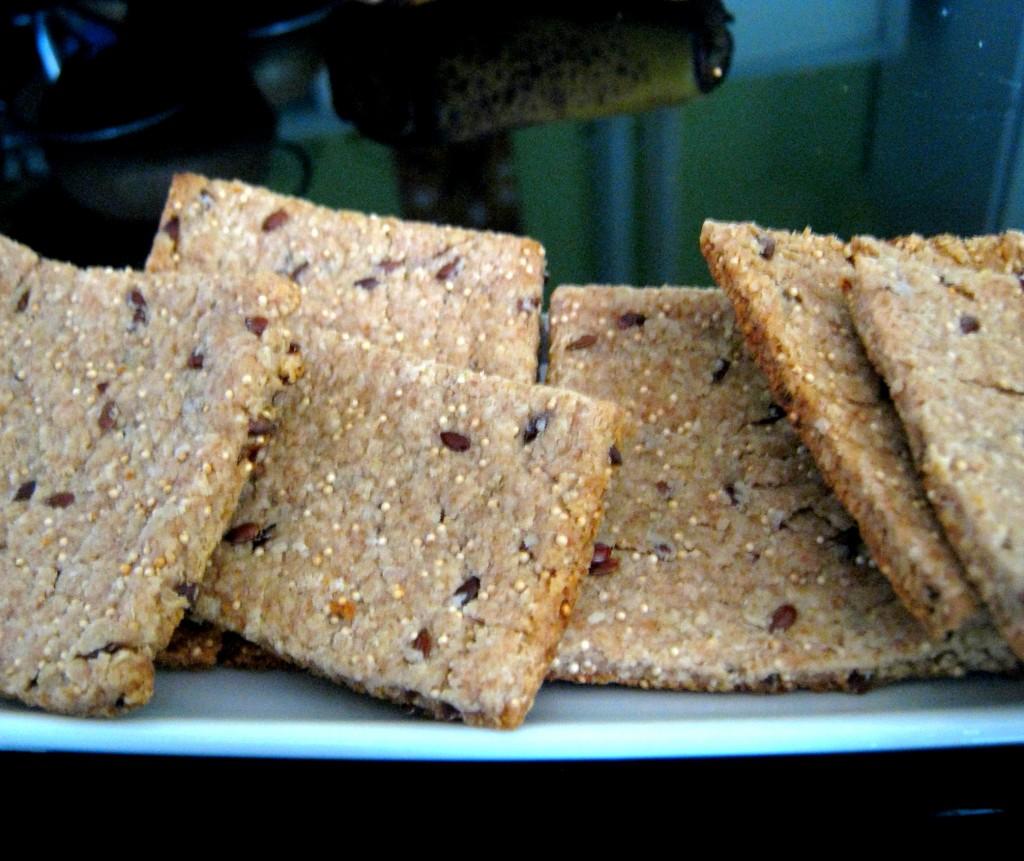 galletas de sesamo negro, lino y quinoa