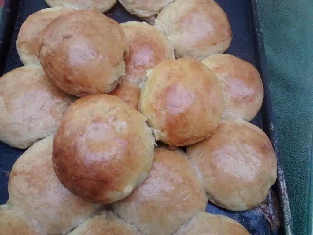 Panes caseros integrales de boniato (camote) y manzana