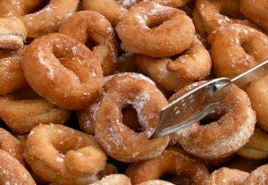Rosquillas dulces con harina integral