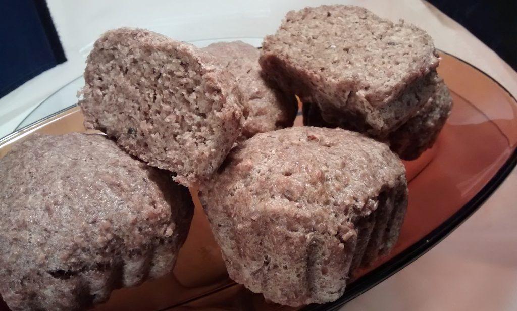 Pan sin harina con semillas de lino